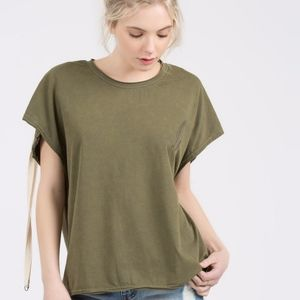 Army Green Unique Tee Shirt